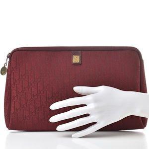 Christian Dior Vintage burgundy red monogram bag